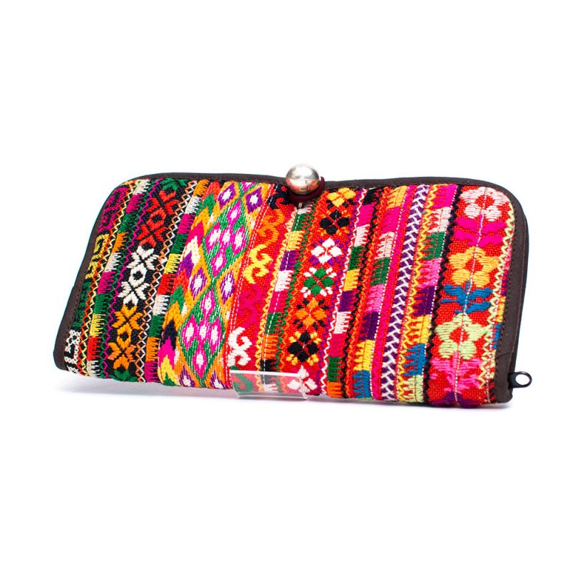 ThongPua モン族刺繍古布の長財布 Type.10(一点もの)