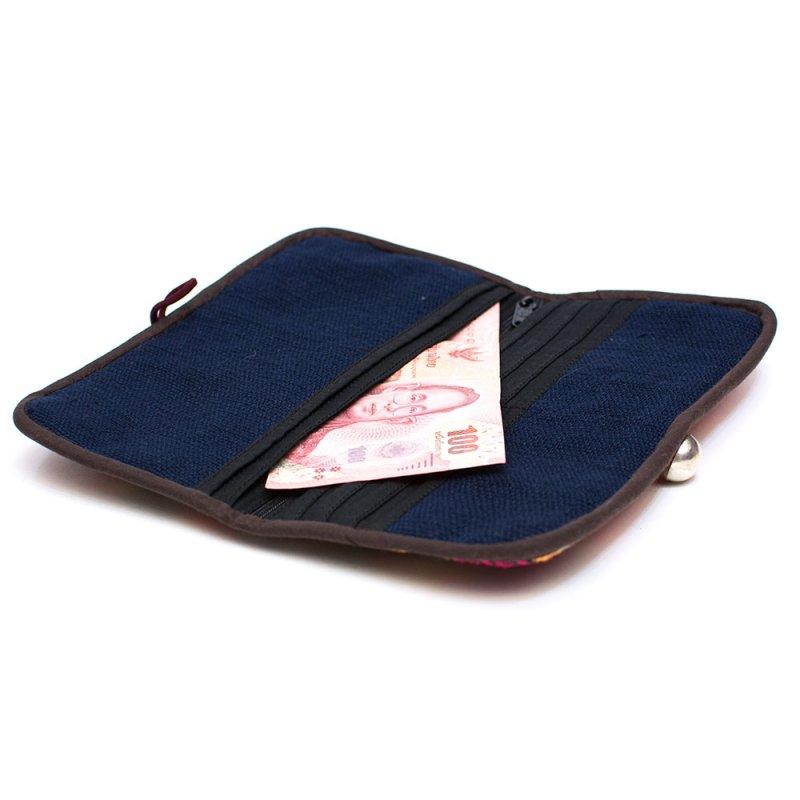 画像3:ThongPua モン族刺繍古布の長財布 Type.10(一点もの)