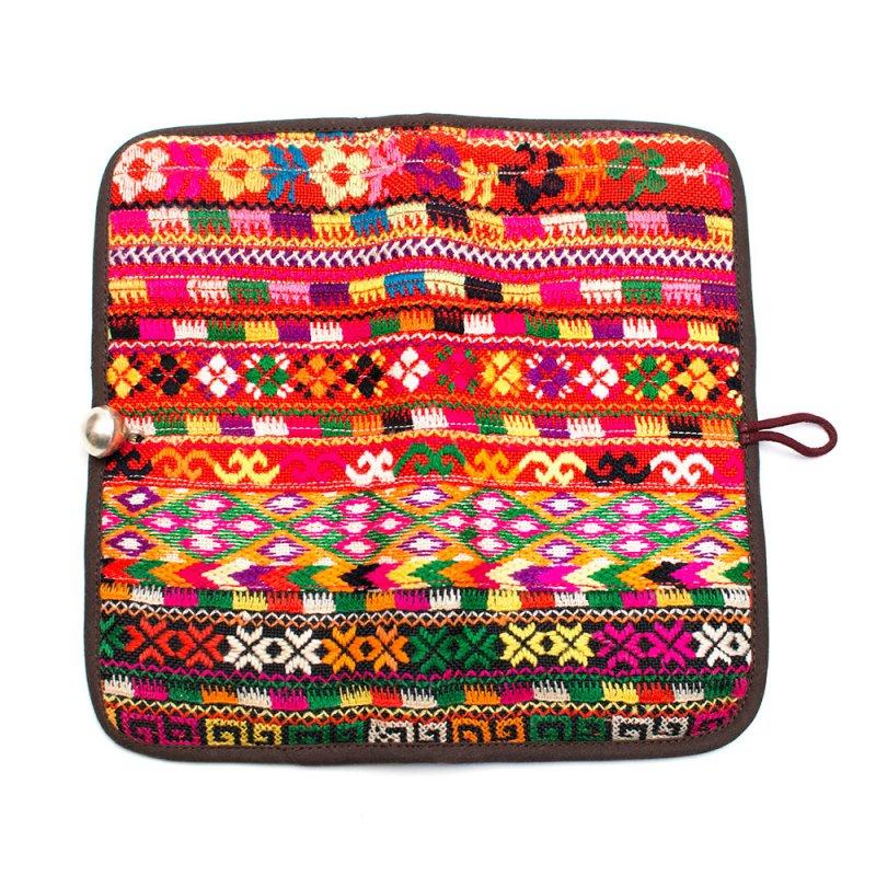 画像4:ThongPua モン族刺繍古布の長財布 Type.10(一点もの)