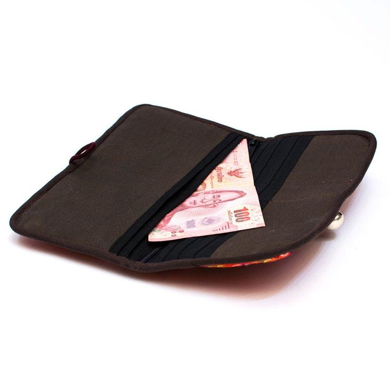 ThongPua モン族刺繍古布の長財布 Type.11(一点もの)