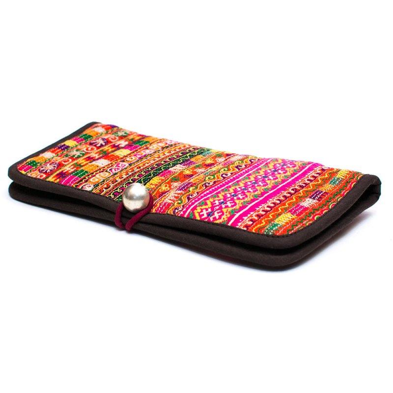 画像2:ThongPua モン族刺繍古布の長財布 Type.12(一点もの)