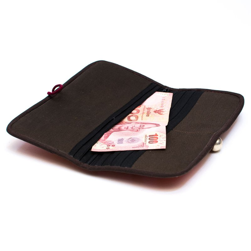 画像3:ThongPua モン族刺繍古布の長財布 Type.12(一点もの)