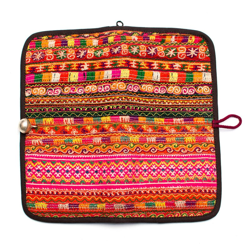画像4:ThongPua モン族刺繍古布の長財布 Type.12(一点もの)