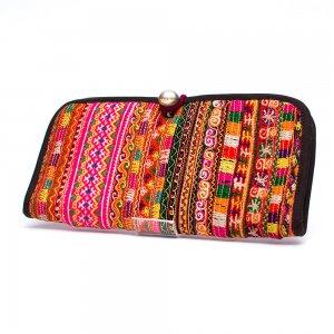 ThongPua モン族刺繍古布の長財布 Type.12(一点もの)