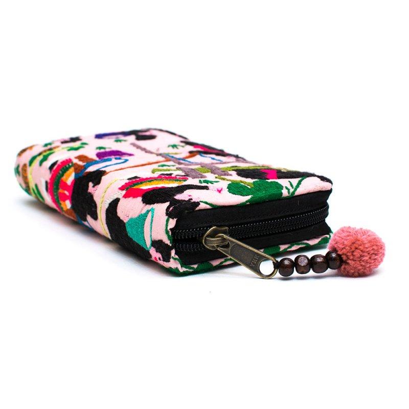 画像2:ラオス モン族のイラスト刺繍長財布 Type.7