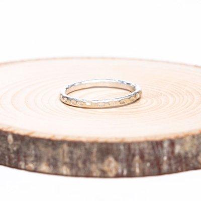 【カレン族シルバー リング】重ね付けに最適な細く美しいハンドメイドリング