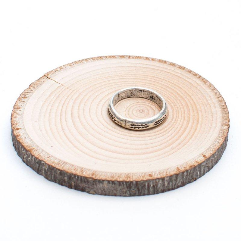 画像2:【カレン族シルバー リング】シンプルな刻印が美しいリング