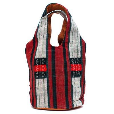 THANGEN ナガ族刺繍の巾着トートバッグ Type.1