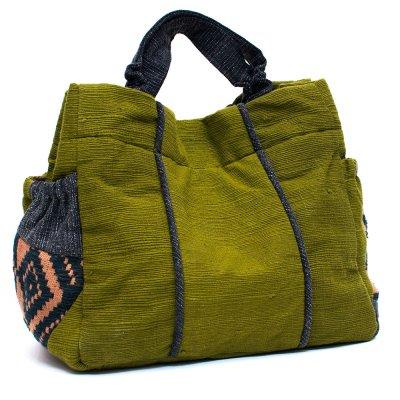 THANGEN ルー族手織り布の手提げバッグ Type.1