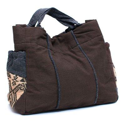 THANGEN ルー族手織り布の手提げバッグ Type.3