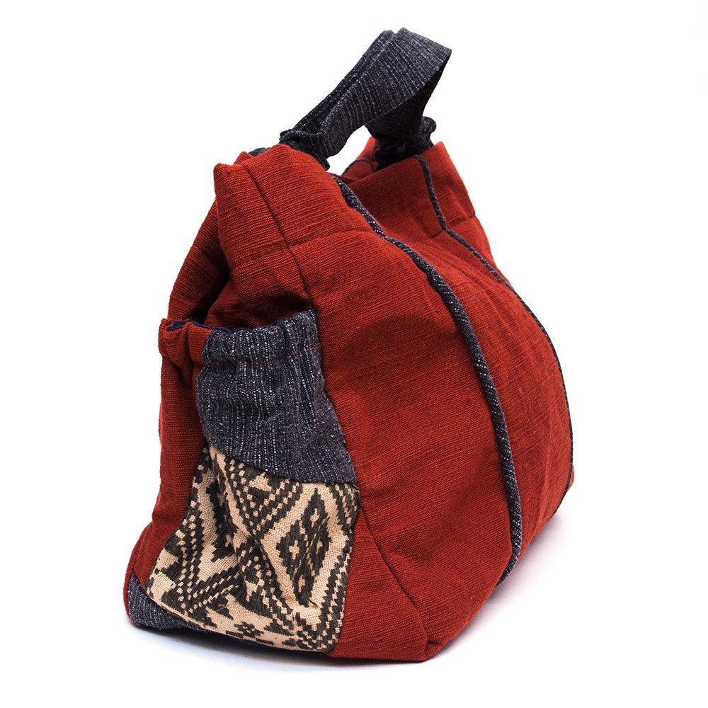 画像2:THANGEN ルー族刺繍の手提げバッグ Type.4