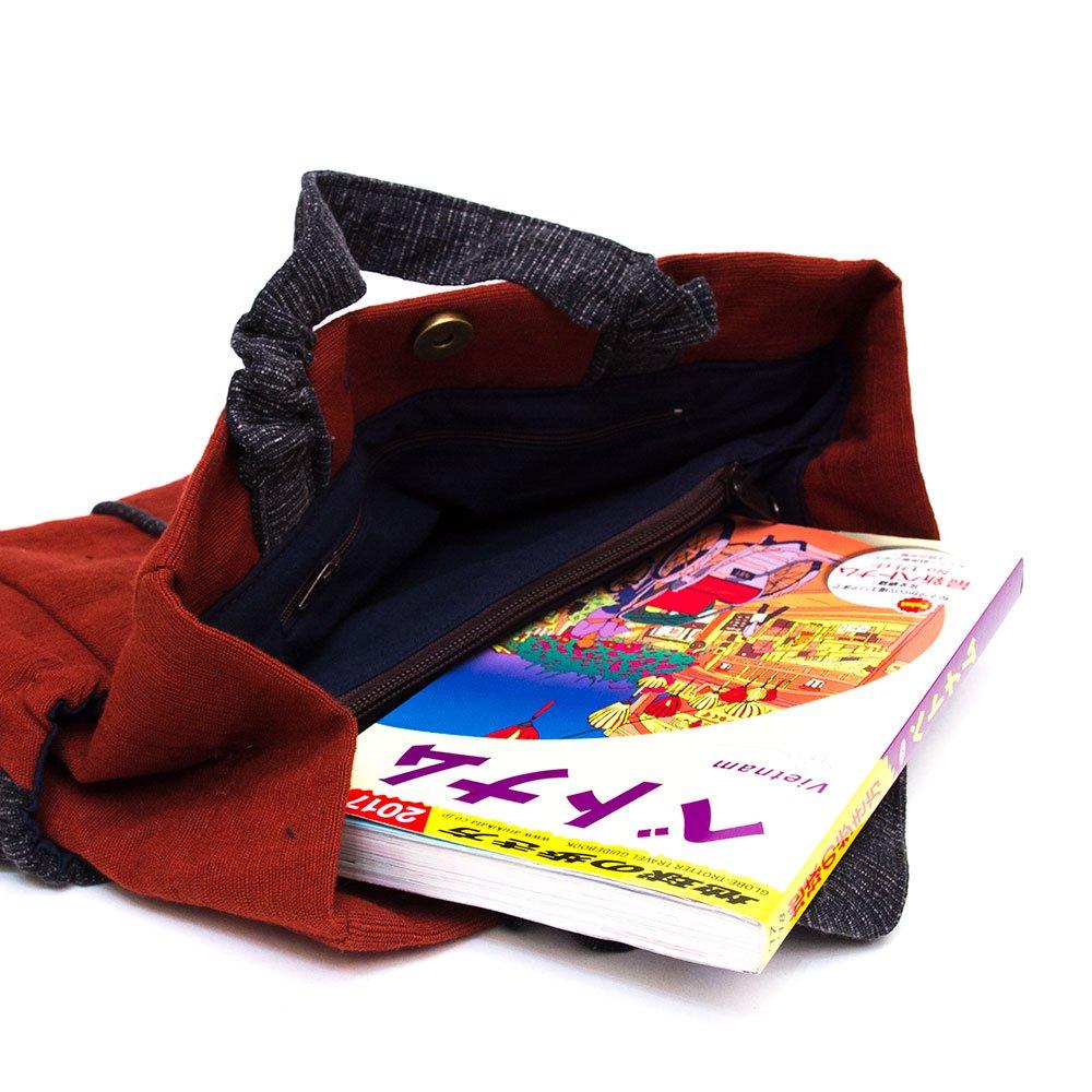 画像3:THANGEN ルー族刺繍の手提げバッグ Type.4