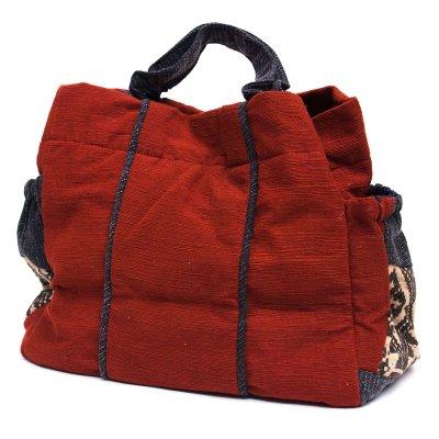 THANGEN ルー族手織り布の手提げバッグ Type.4
