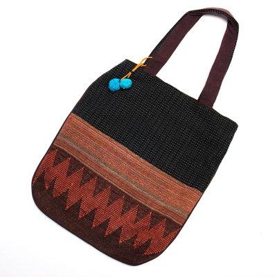 THANGEN ナガ族手織り布のトートバッグ Type.4