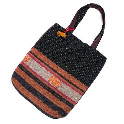 THANGEN ナガ族手織り布のトートバッグ Type.5