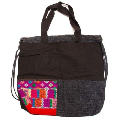 THANGEN カレン族手織り布の2way巾着トートバッグ Type.1