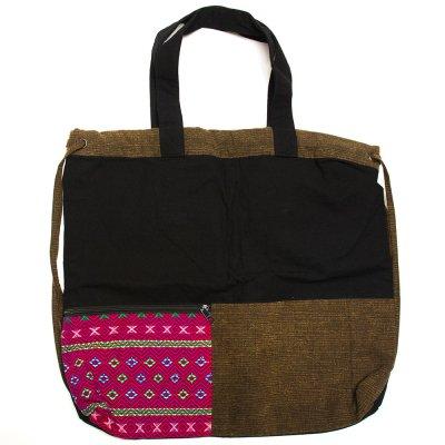 THANGEN カレン族手織り布の2way巾着トートバッグ Type.2