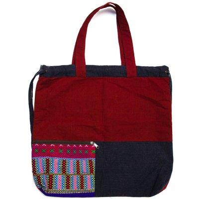 THANGEN カレン族手織り布の2way巾着トートバッグ Type.3