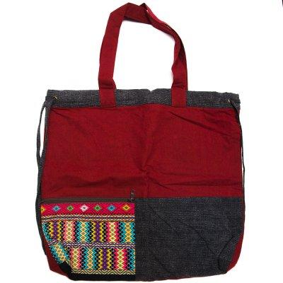 THANGEN カレン族手織り布の2way巾着トートバッグ Type.4