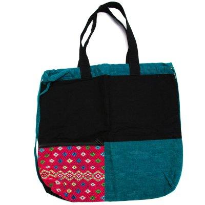 THANGEN カレン族手織り布の2way巾着トートバッグ Type.5