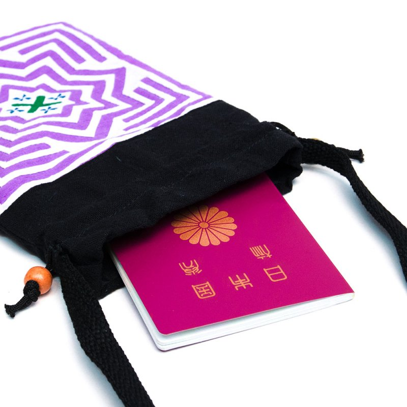 A Bu-Ali(アブアリ)モン族刺繍の巾着ポーチ Type.3