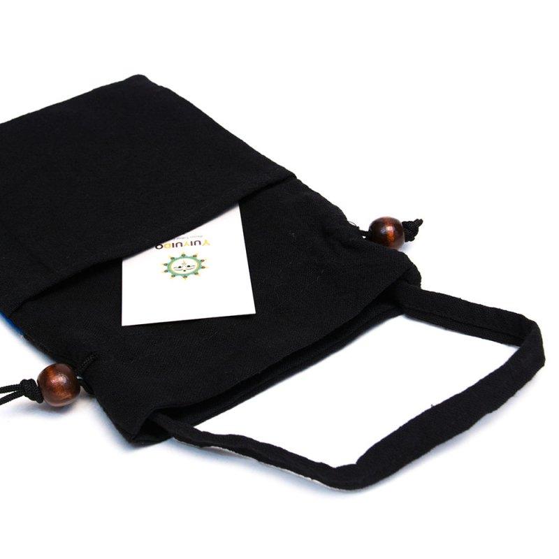A Bu-Ali(アブアリ)モン族刺繍の巾着ポーチ Type.4