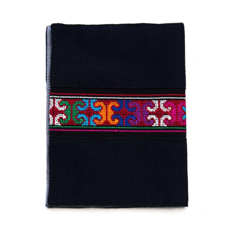 A Bu-Ali(アブアリ)アカ族刺繍のブックカバー Type.1