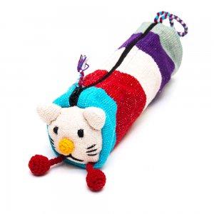 <フェアトレード>WSDO アニマルペンケース(猫)Type.4