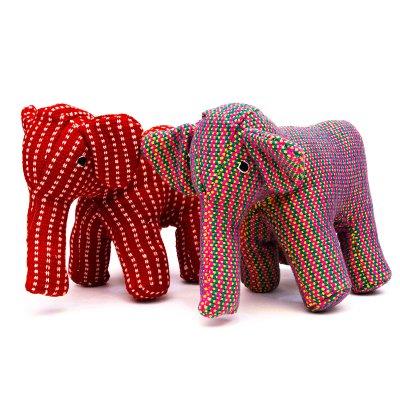 <フェアトレード>WSDO ゾウさんの手縫いぬいぐるみ Type.3