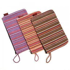 <フェアトレード>WSDO 手織布の大判化粧ポーチ Type.2