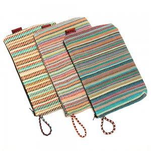 <フェアトレード>WSDO 手織布の大判化粧ポーチ Type.3