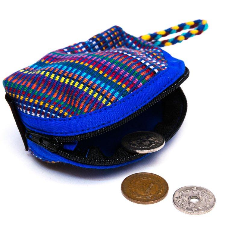 <フェアトレード>WSDO 手織布のコインケース(半円)Type.2