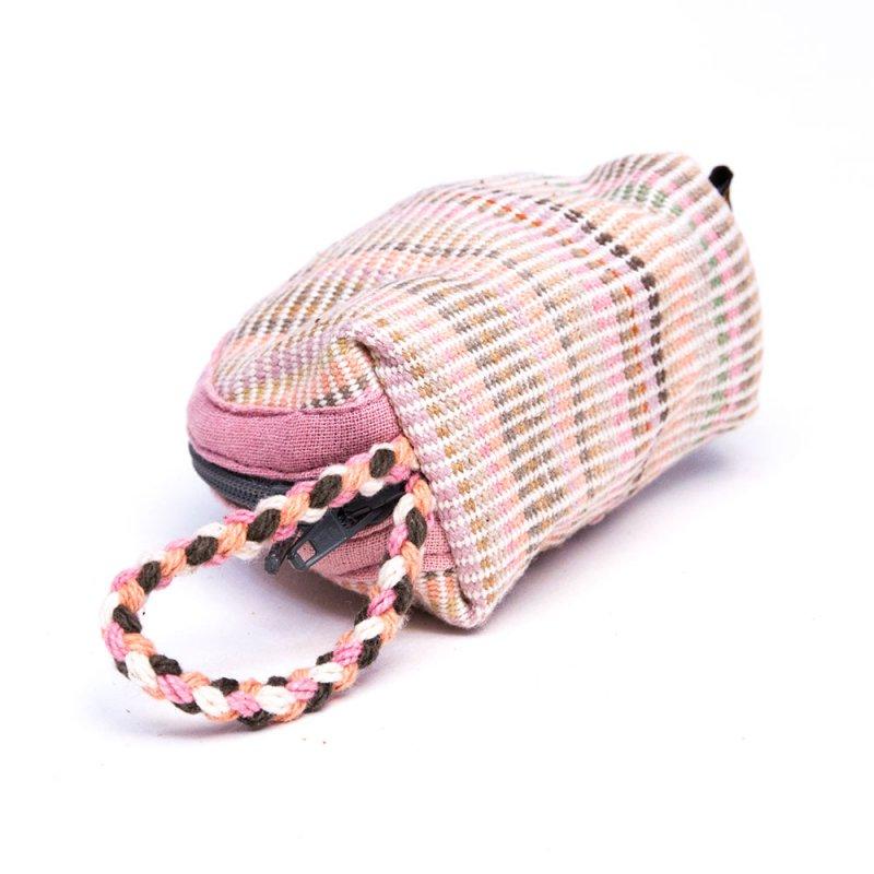 <フェアトレード>WSDO 手織布の草木染めコインケース(半円)Type.2