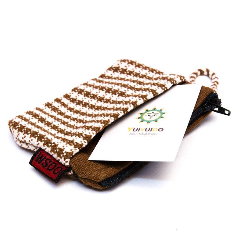 <フェアトレード>WSDO 手織布の3ポケットカードケース Type.2