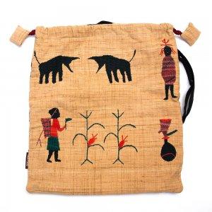 チン族 手織布と手刺繍のナップサック Type.2