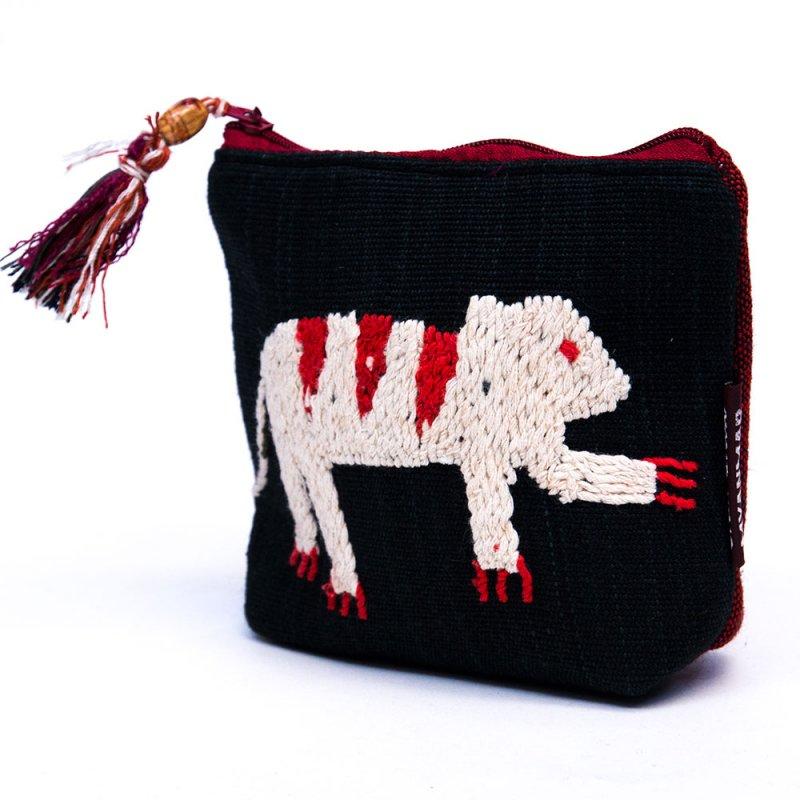 ミャンマー チン族 手刺繍の小物ポーチ Type.1