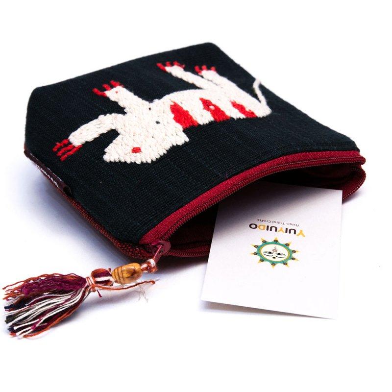 画像4:ミャンマー チン族 手刺繍の小物ポーチ Type.1