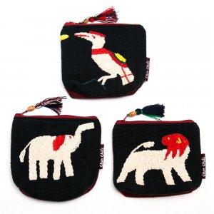 ミャンマー チン族 手刺繍の小物ポーチ Type.2