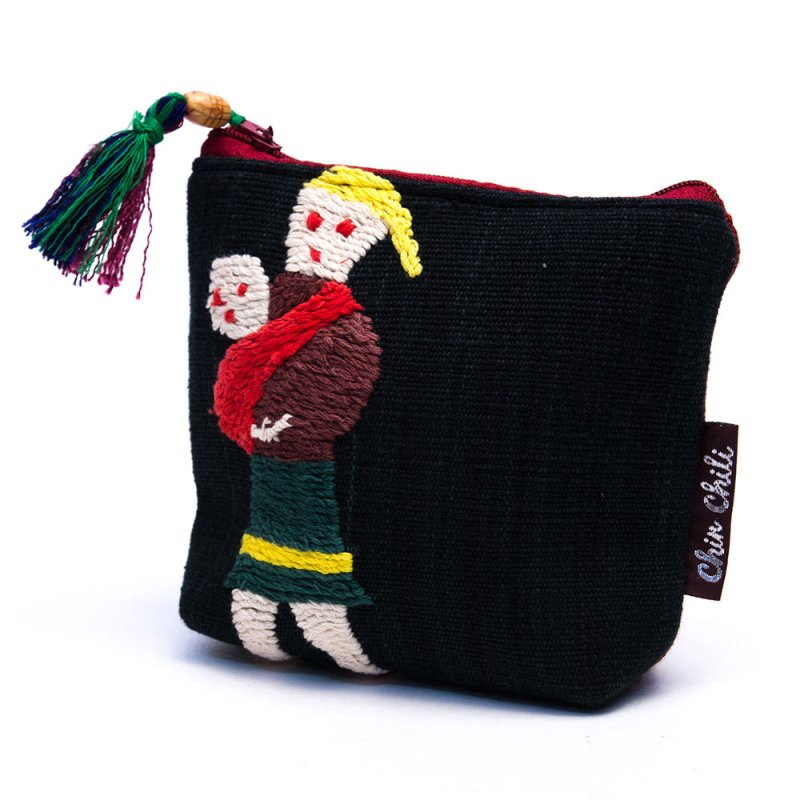ミャンマー チン族 手刺繍の小物ポーチ Type.3