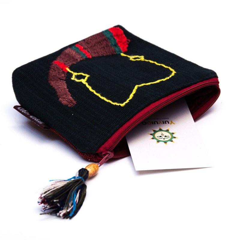 ミャンマー チン族 手刺繍の小物ポーチ Type.4