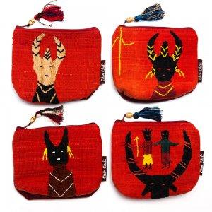 ミャンマー チン族 手刺繍の小物ポーチ Type.7