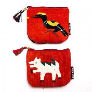 ミャンマー チン族 手刺繍の小物ポーチ Type.9