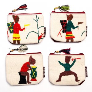 ミャンマー チン族 手刺繍の小物ポーチ Type.10