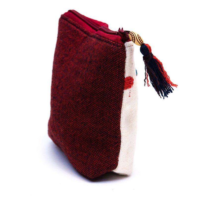 ミャンマー チン族 手刺繍の小物ポーチ Type.11