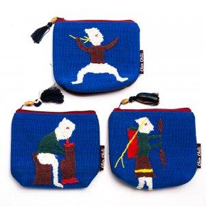 ミャンマー チン族 手刺繍の小物ポーチ Type.13