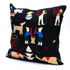 ナガ族 手織布と手刺繍のクッションカバー Type.3