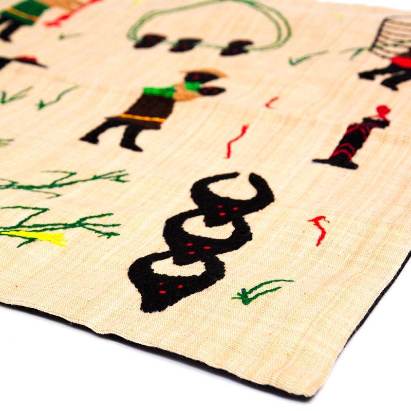 ナガ族 手織布と手刺繍のクッションカバー Type.6