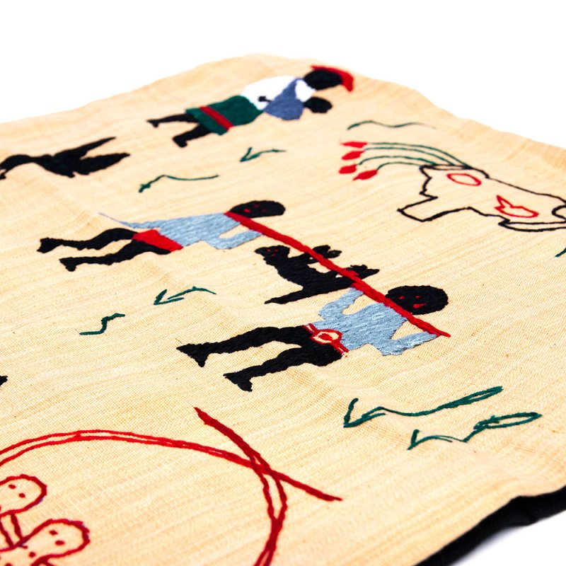 ナガ族 手織布と手刺繍のクッションカバー Type.7
