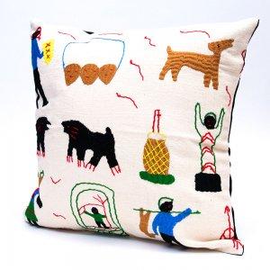 ナガ族 手織布と手刺繍のクッションカバー Type.10
