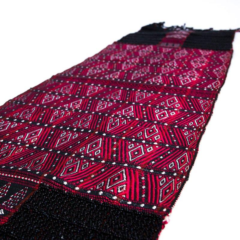画像3:チン族 手織布とビーズのテーブルクロス Type.1